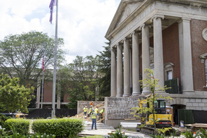 Syracuse University reaches halfway point with summer construction