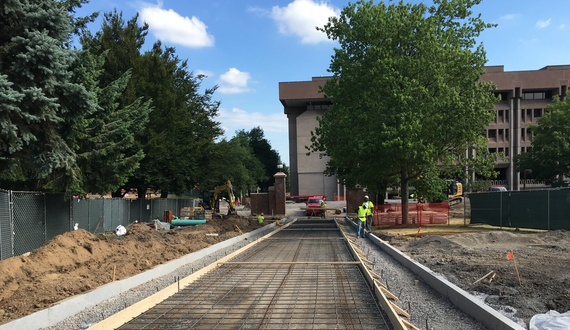 SU construction update: promenade progress continues; Quad improvements complete